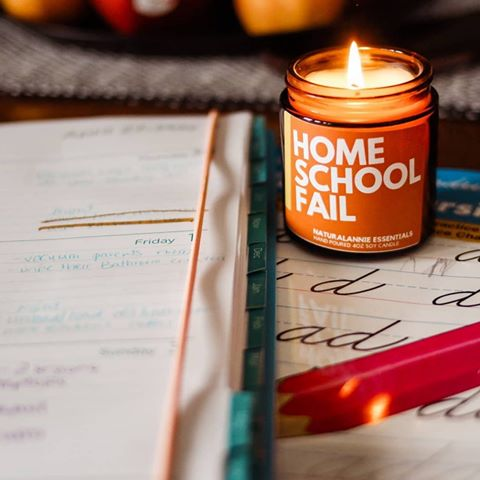 HOME SCHOOL FAIL Scented Soy Candle