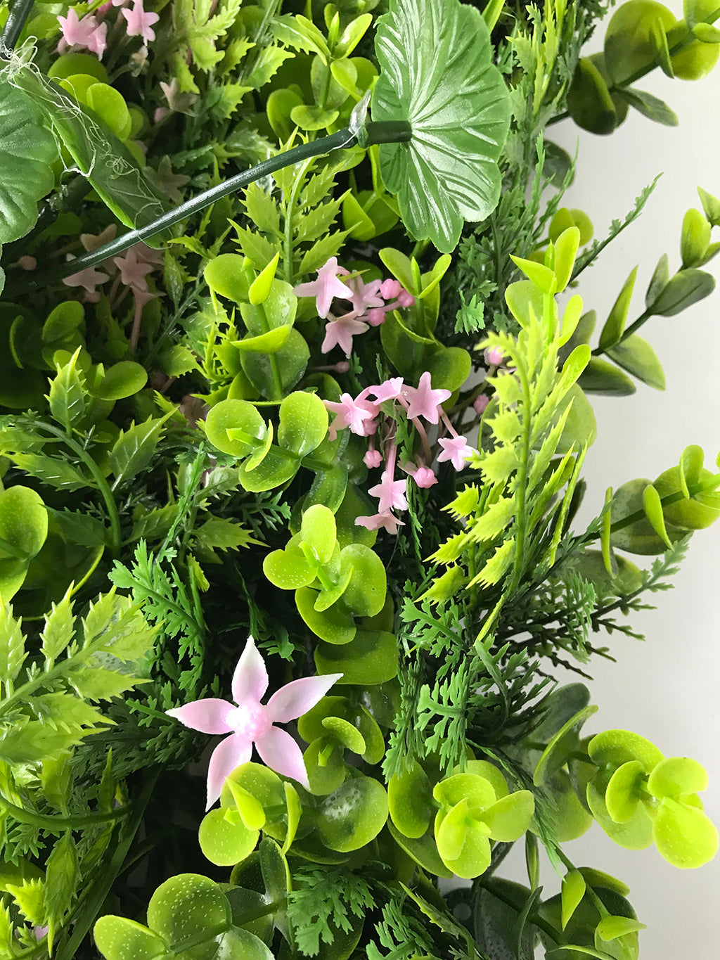 Artificial green wall mixed plant panel with pink flowers 100x100 cm artificial green wall mixed plant panel with pink flowers 100x100 cm mightylinksfo