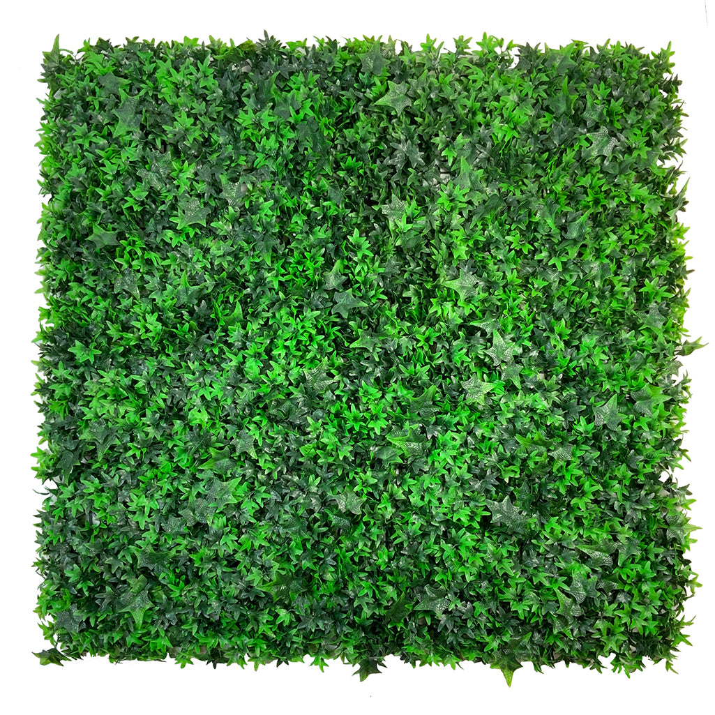 Artificial green wall mixed plant panel with ivy 100x100 cm - www.greenplantwalls.co.uk