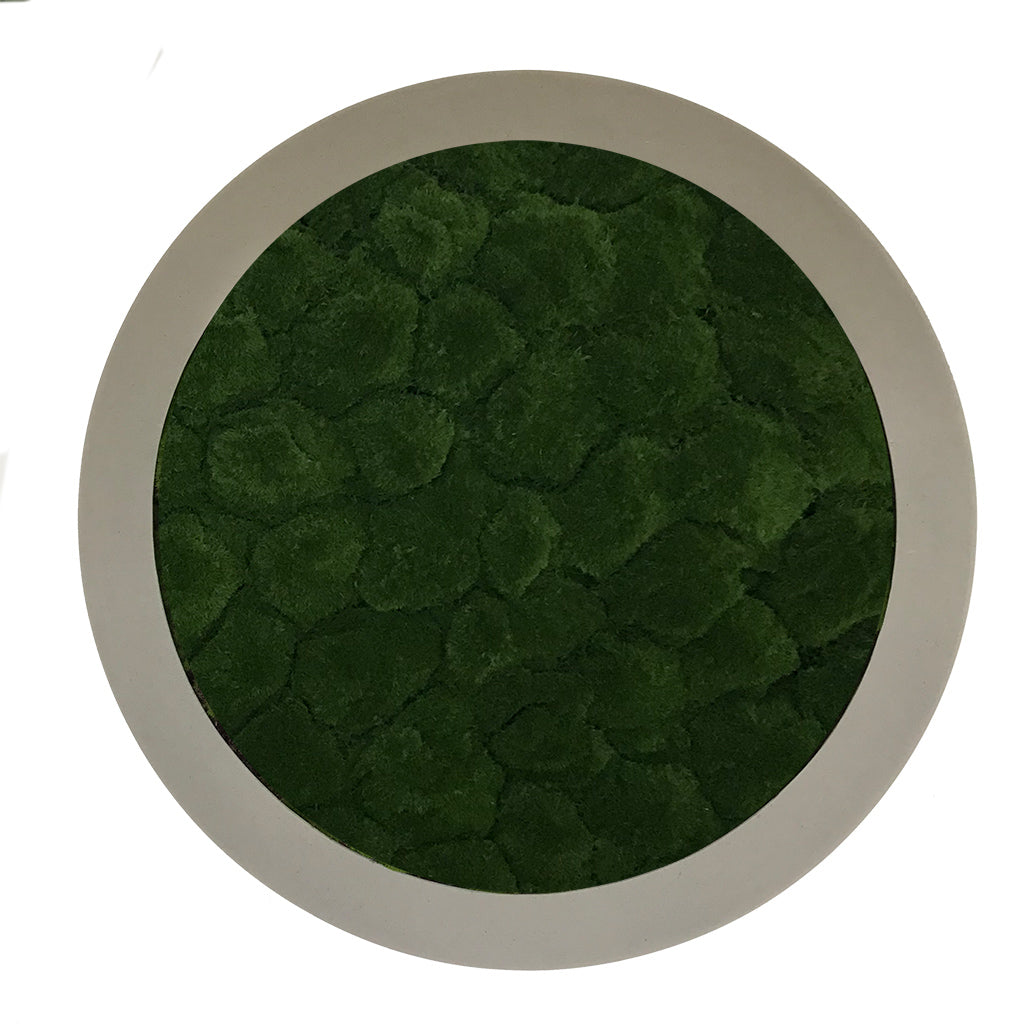 Artificial bun  moss circular art panel GRP concrete-stone effect
