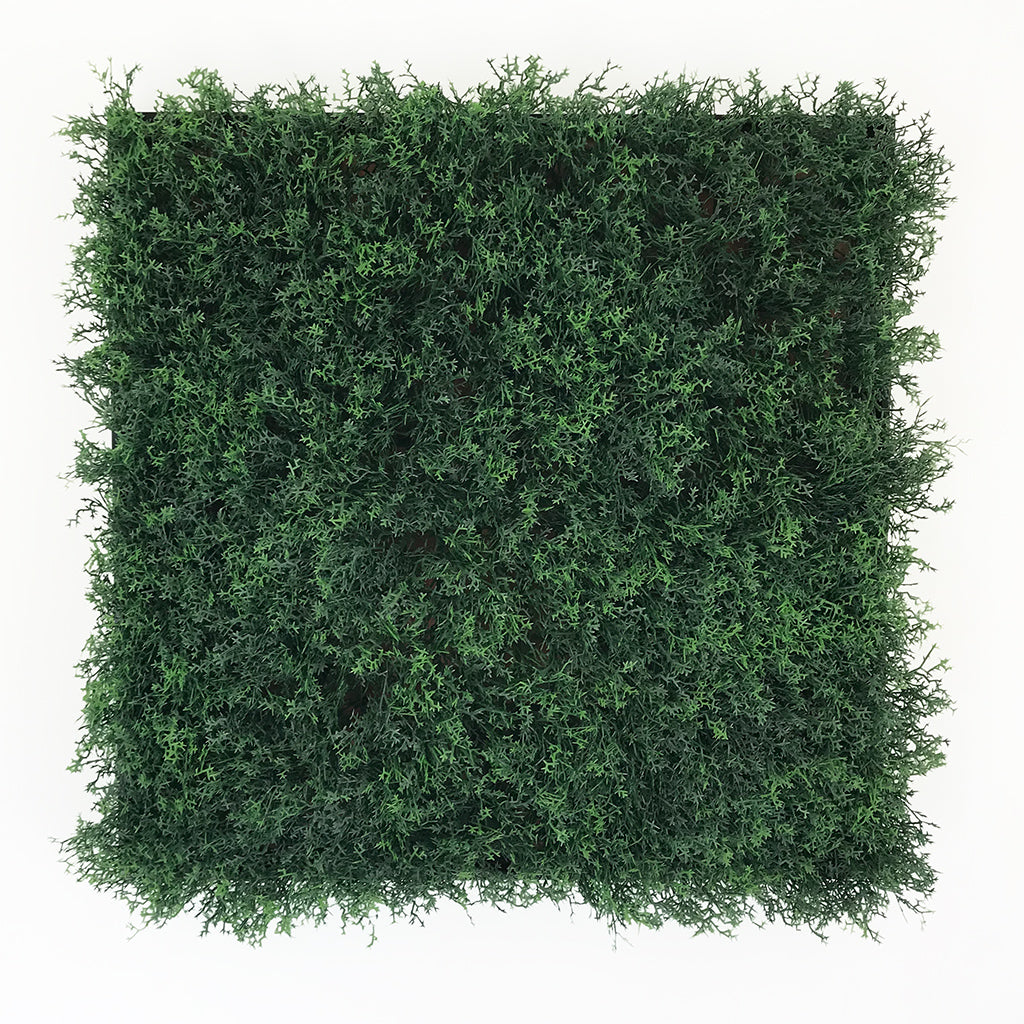 Artificial green reindeer moss art panel 50x50 cm - framed