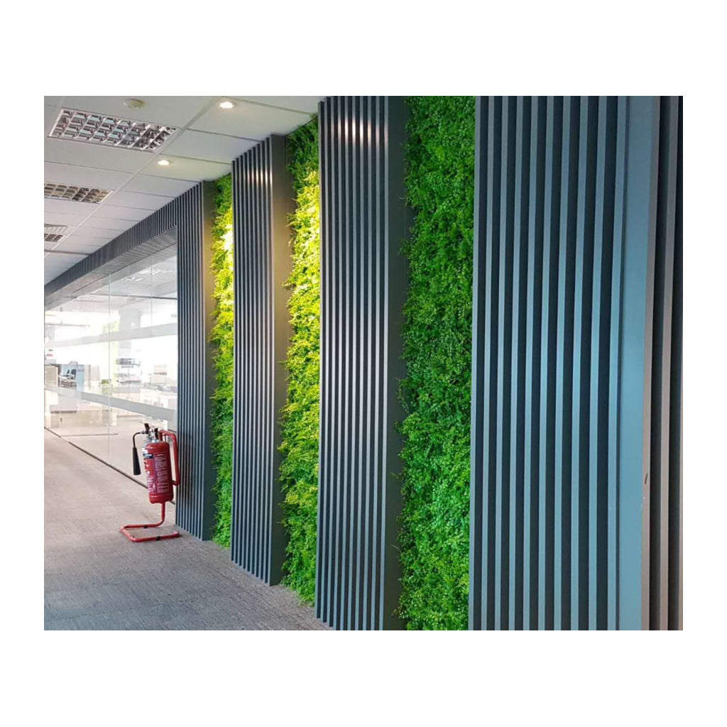 Artificial green wall plant panel with bamboo fern 100x100 cm - www.greenplantwalls.co.uk