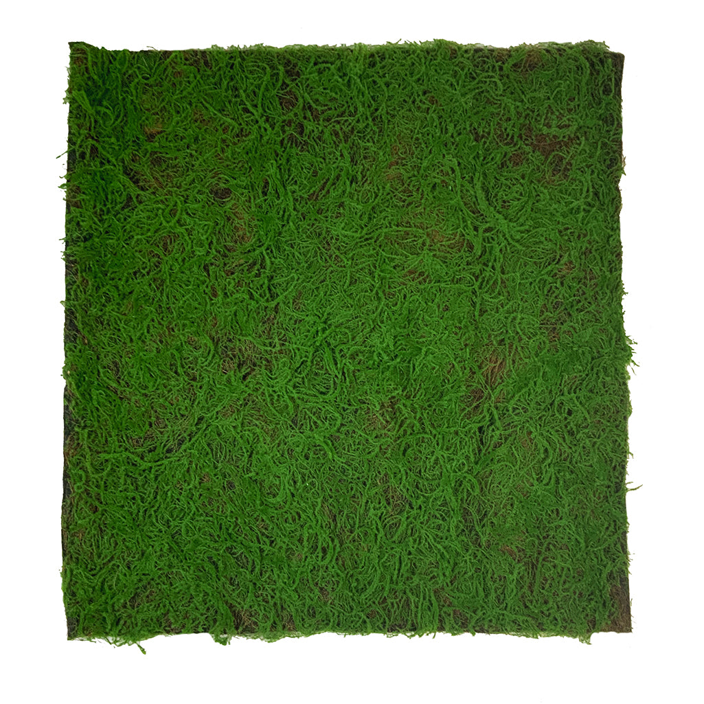 Artificial green sphagnum moss panel