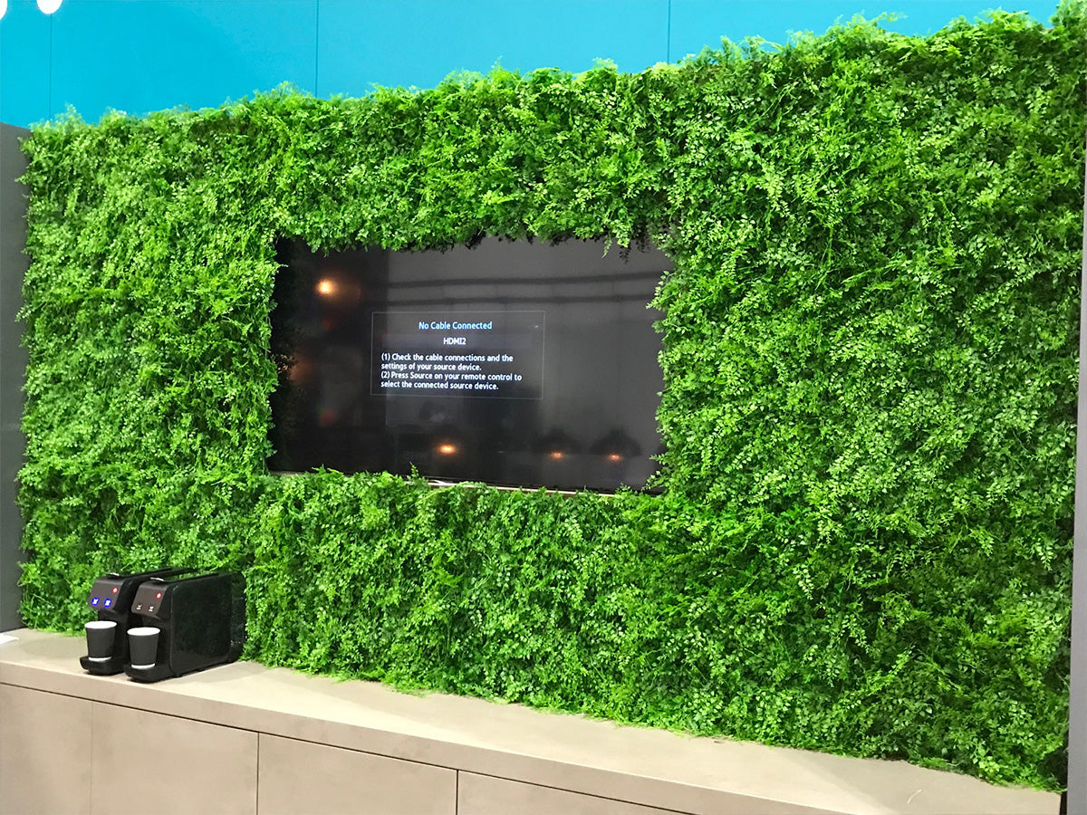 Artificial green wall plant panel with bamboo fern 100x100 cm