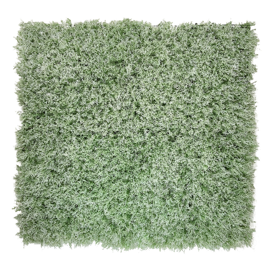 Artificial white green reindeer moss panel 100x100 cm - www.greenplantwalls.co.uk