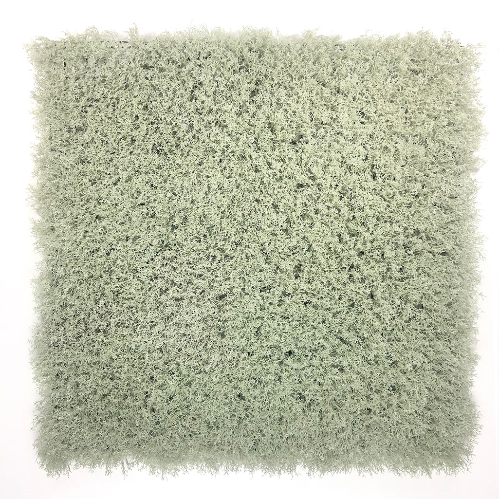 Artificial white-grey reindeer moss panel 100x100 cm - www.greenplantwalls.co.uk