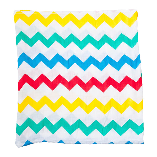 Rainbow Chevron Swaddle Muslin