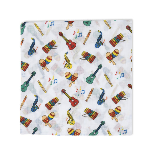Musical Instruments Swaddle Muslin