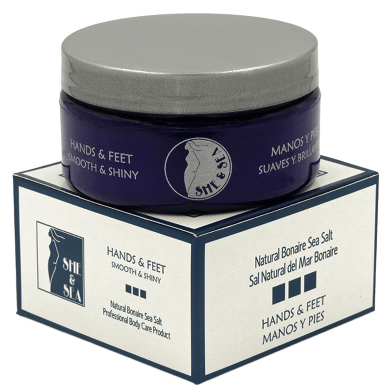 She & Sea SALT SCRUB (Hands/Feet) - Bonaire Salt Shop