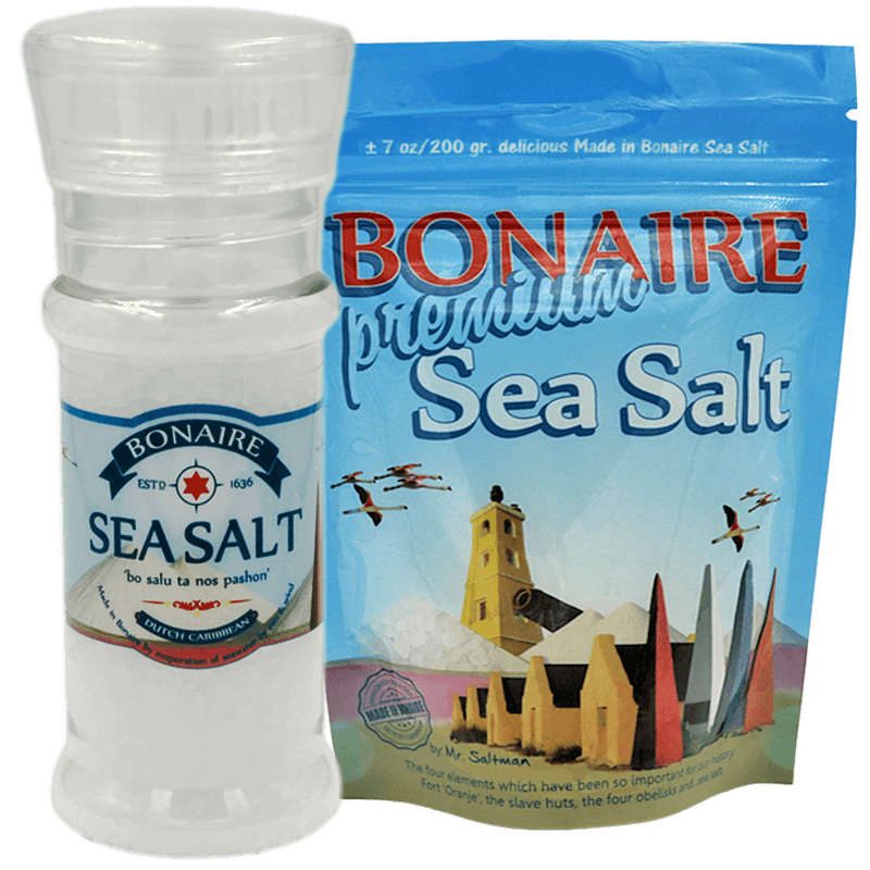 Sea Salt Gift Pack - Grinder/Pouch - Bonaire Salt Shop