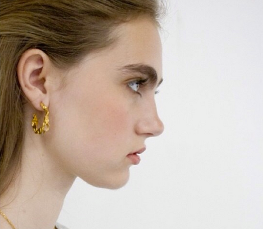 C R U S H Hoop Earrings - Gold