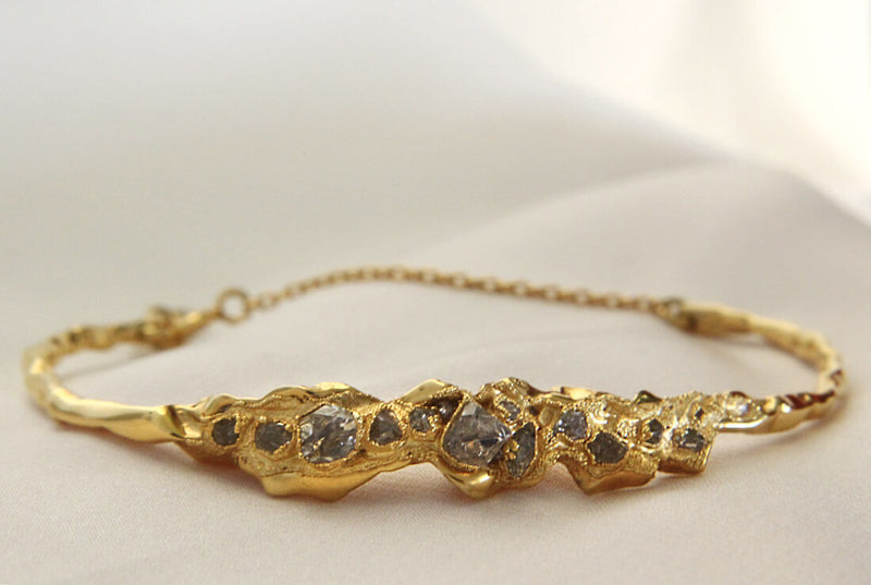 C R U S H Statement Bracelet - Gold