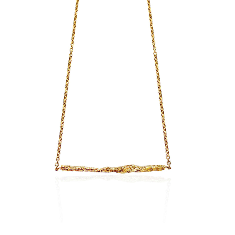 ILLUSION Medium stick necklace-Gold