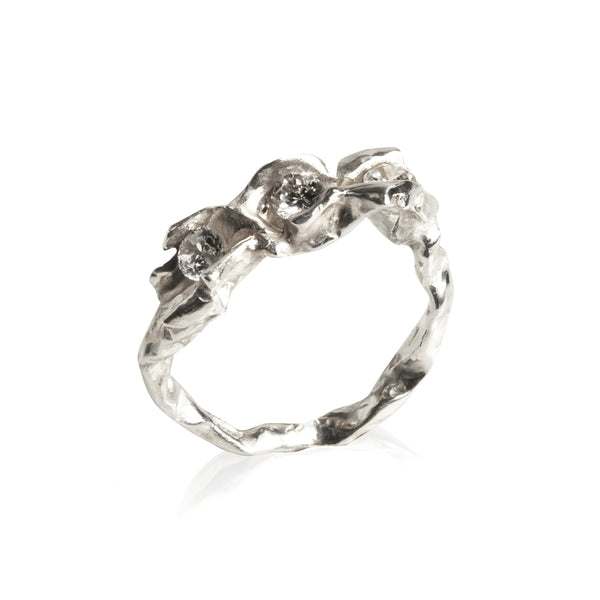 CRUSH 18K WHITE GOLD DIAMOND Enternity RING