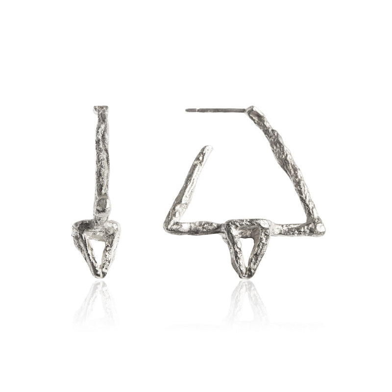 DELTA Earrings - Silver