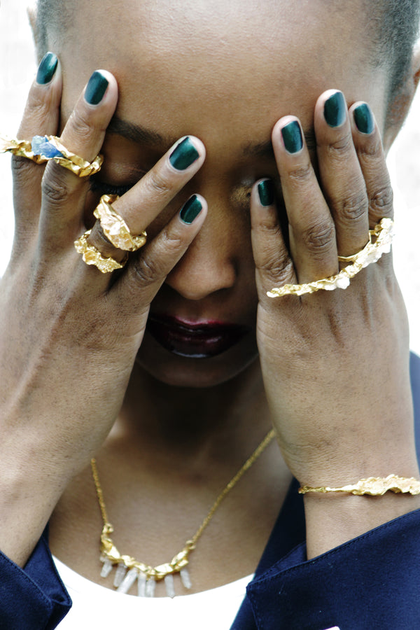 C R U S H Chunky Ring - Gold