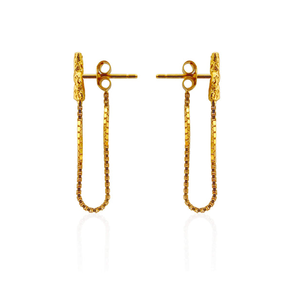 ILLUSION Chain Studs - Gold