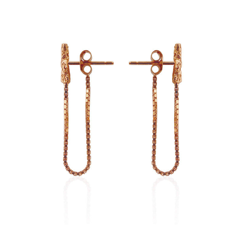 ILLUSION Chain studs - Rose gold