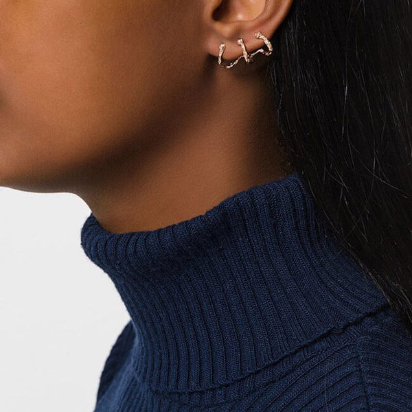 MOMENTS Climber Earrings - Rose Gold