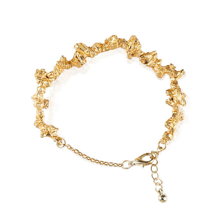 UNDER EARTH IRREGULAR BRACELET - GOLD