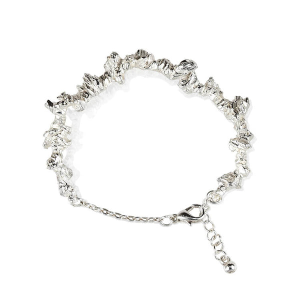 UNDER EARTH IRREGULAR BRACELET - SILVER