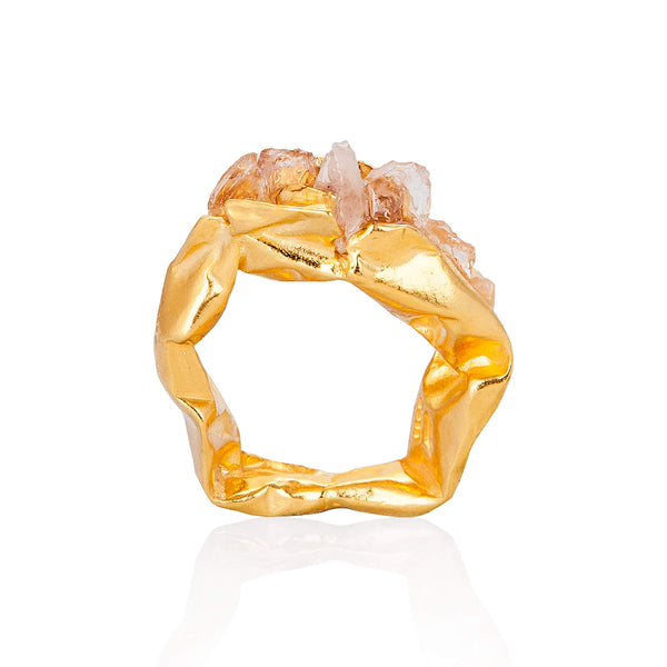 C R U S H Chuncky Ring - Gold