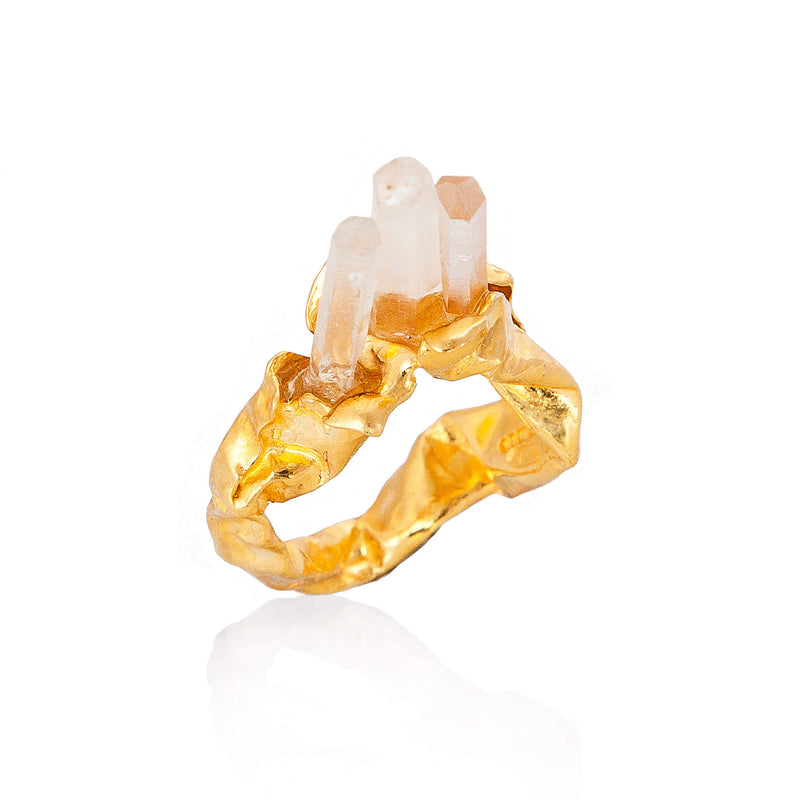 C R U S H Statement Ring - Gold