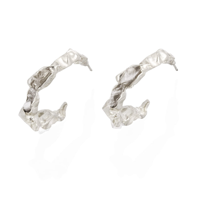 C R U S H Hoop Earrings - Silver
