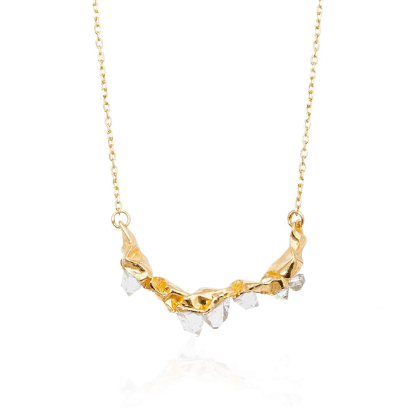 C R U S H large necklace - Gold