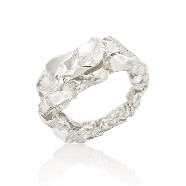 C R U S H Sculptural Ring - Silver