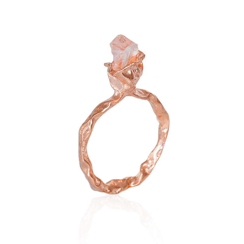 C R U S H One Stone Ring - Rose Gold