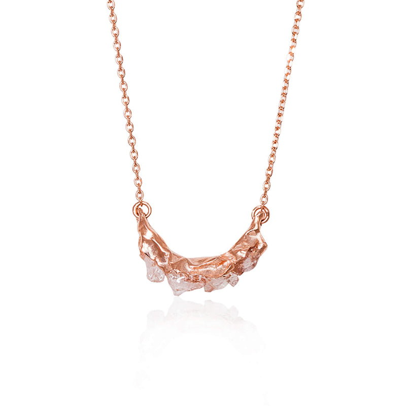 C R U S H Small necklace - Rose Gold