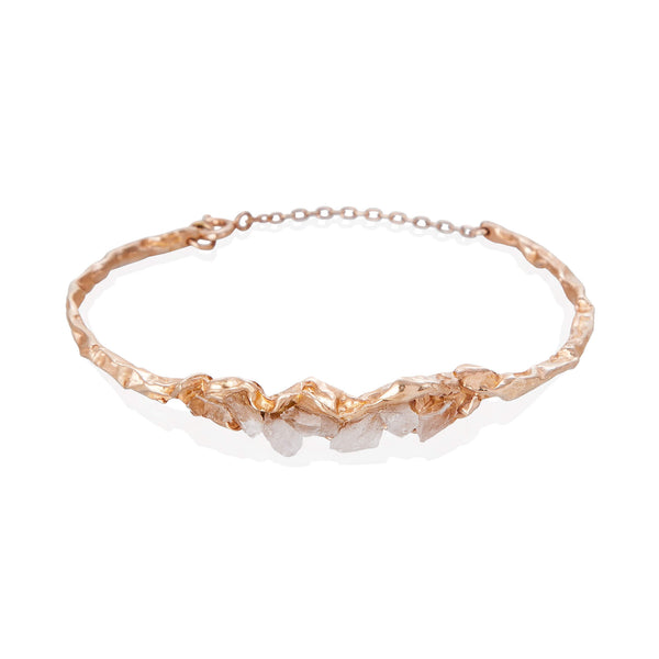 C R U S H Statement Bracelet - Rose Gold