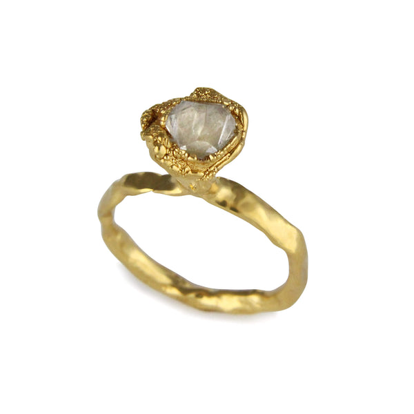 C R U S H One Stone Ring - Gold