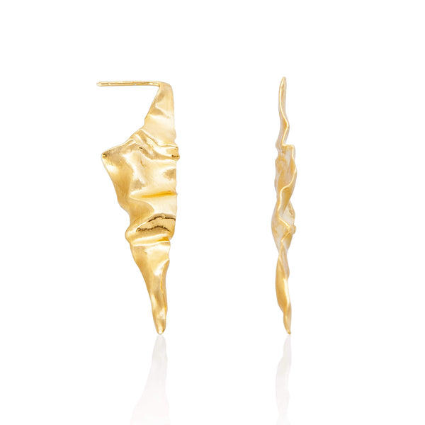 C R U S H Pointed Earrings - Gold
