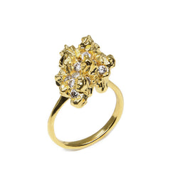 UNDER EARTH 18ct Irregular Diamonds Ring