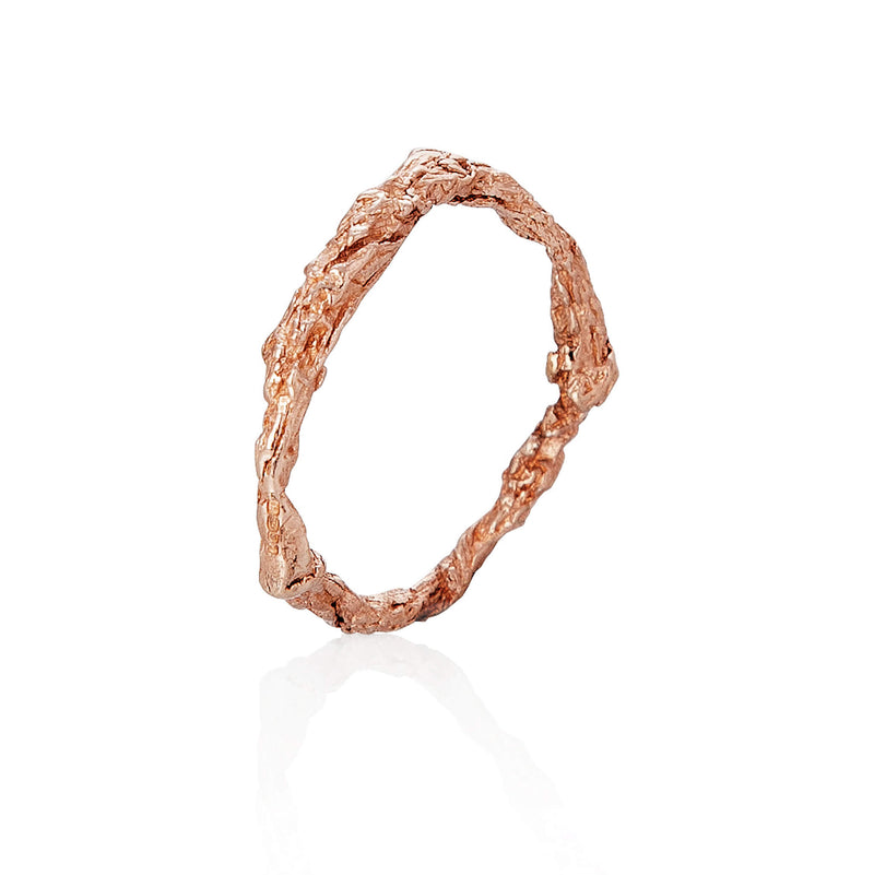 ILLUSION CIRCLE RING - ROSE GOLD