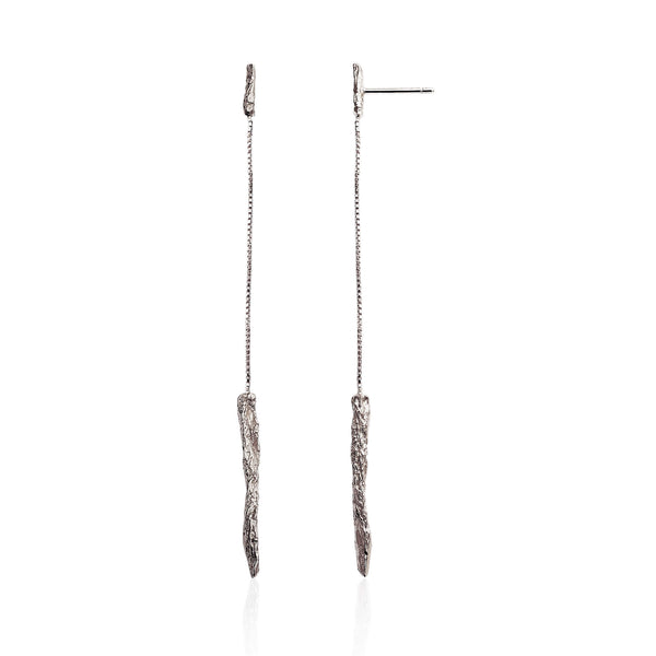 ILLUSION Long Earrings - Silver
