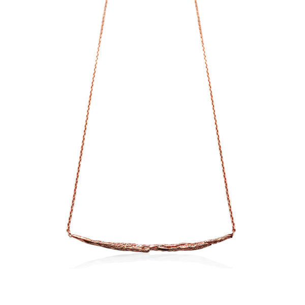 ILLUSION Long stick necklace - Rose gold