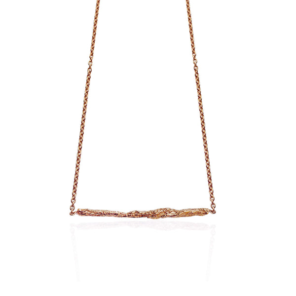 ILLUSION Medium stick necklace - ROSE GOLD