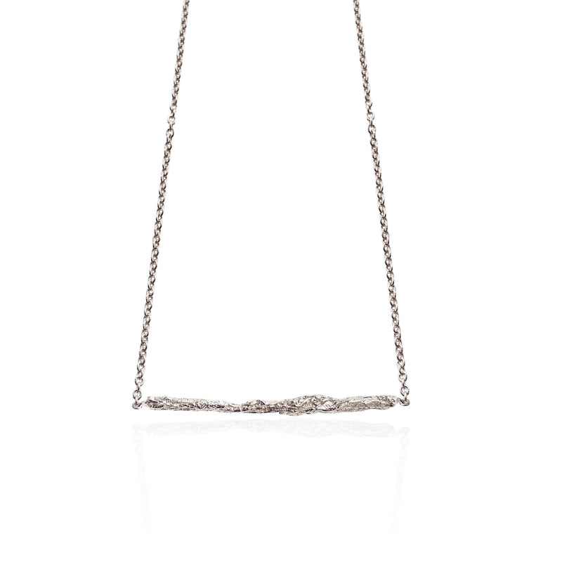 ILLUSION Medium stick necklace - Silver