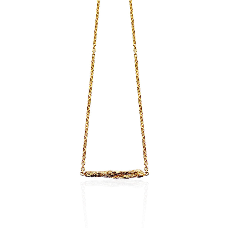 ILLUSION short stick necklace - GOLD