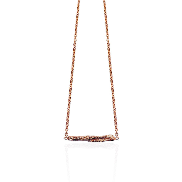 ILLUSION Short stick necklace - ROSE GOLD