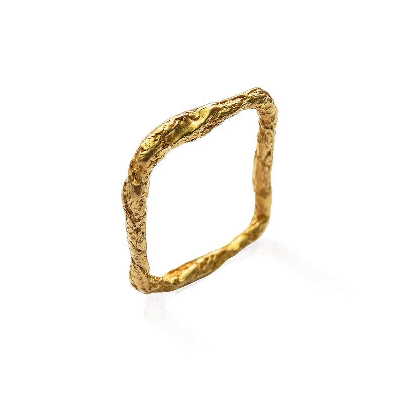 ILLUSION SQUARE RING - GOLD