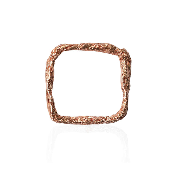 ILLUSION SQUARE RING - ROSE GOLD