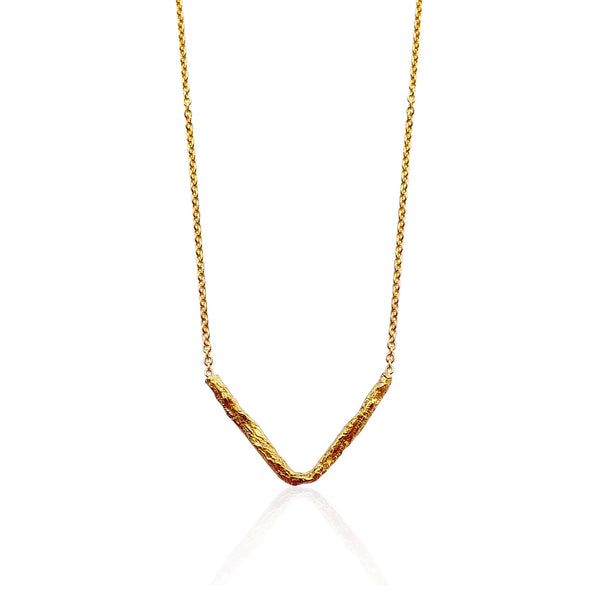 ILLUSION V necklace - GOLD