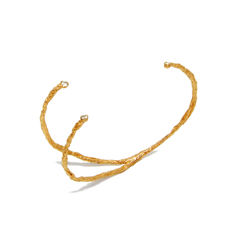 MOMENTS 3 Stones Bangle - Gold