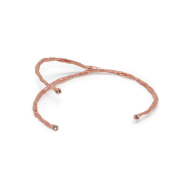 MOMENTS 3 stones bangle - Rose Gold