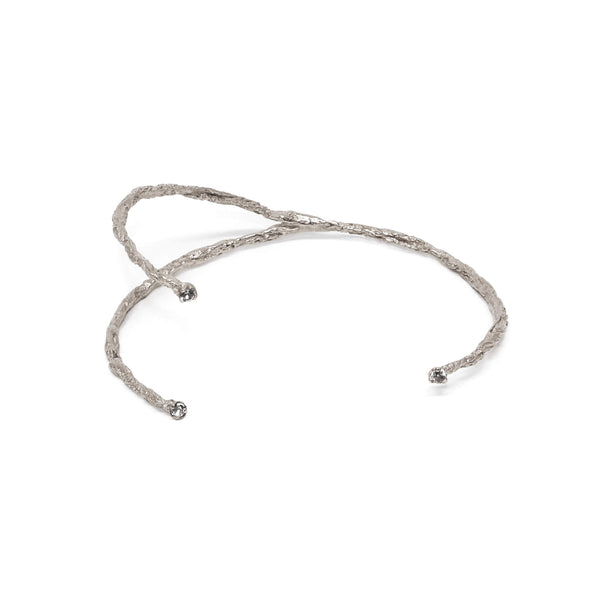 MOMENTS 3 stones bangle - Silver