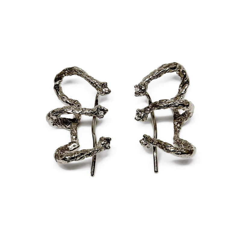 MOMENTS Climber Earrings - Black